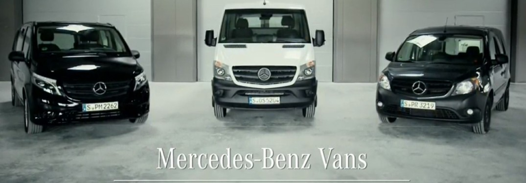 Mercedes-Benz Sprinter vans in a row