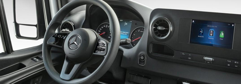What technology features do Mercedes-Benz Sprinter and Metris vans offer?
