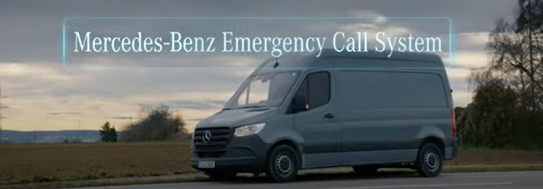 How does the Emergency Call System work in a Mercedes-Benz Van?