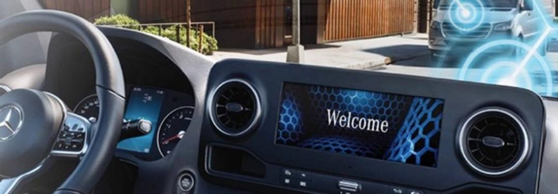 2020 Mercedes-Benz Van multimedia system and steering wheel