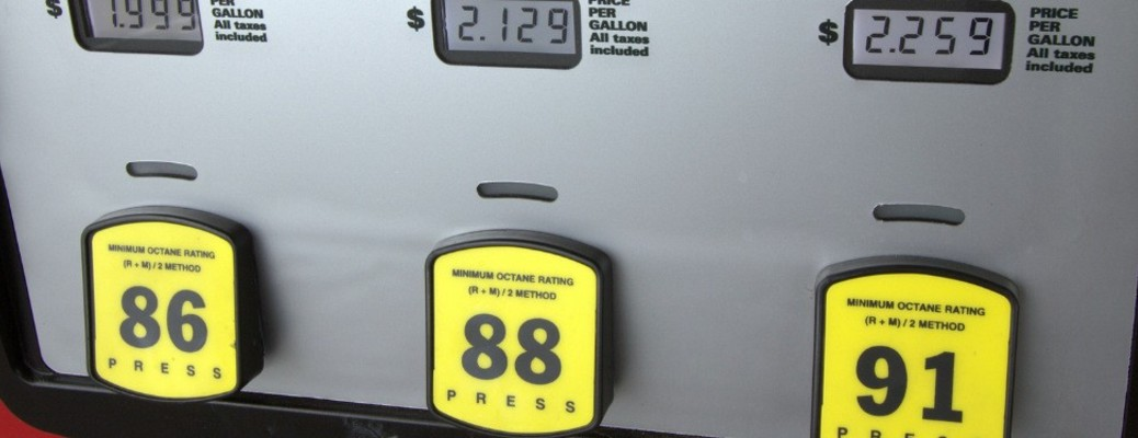 prices of fuel at a gas station