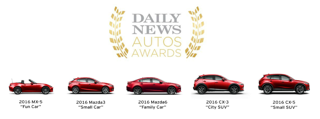 Mazda Wins big at Inaugural New York Daily News Auto Awards