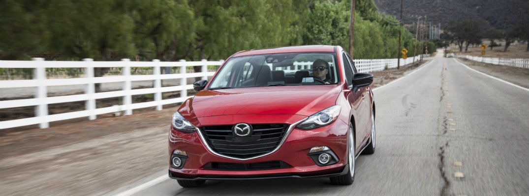 How far can the 2016 Mazda3 go on one tank of gas?