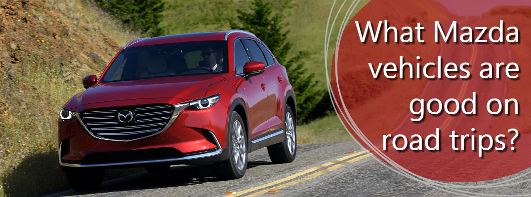 What Mazda vehicle would be good on a road trip?
