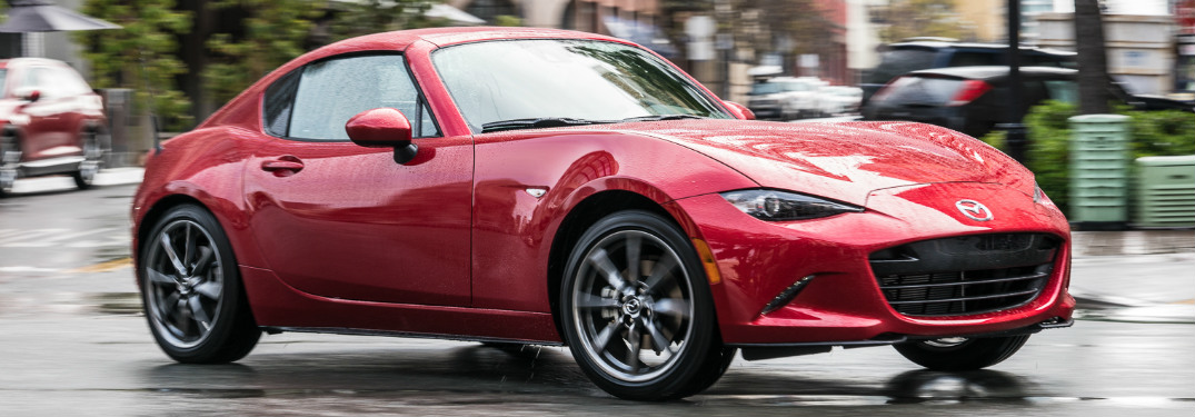 2017 Mazda MX-5 RF red side view