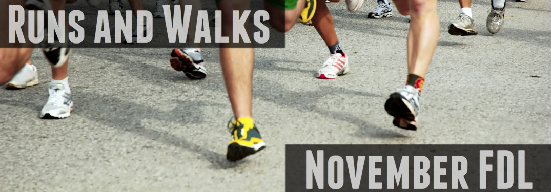 Feet of people running and walking November FDL