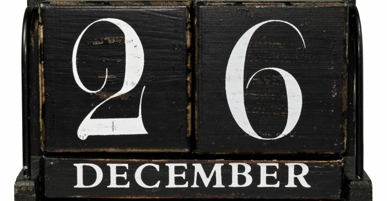calendar December 26th