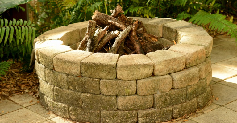 outdoor firepit at a residence