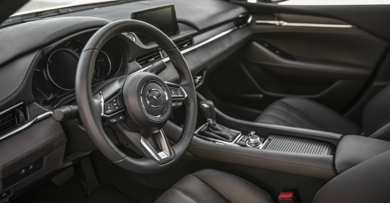 2018 Mazda6 Signature interior with Chestnut leather