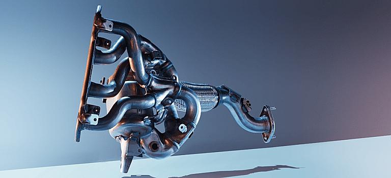 Mazda exhaust manifold