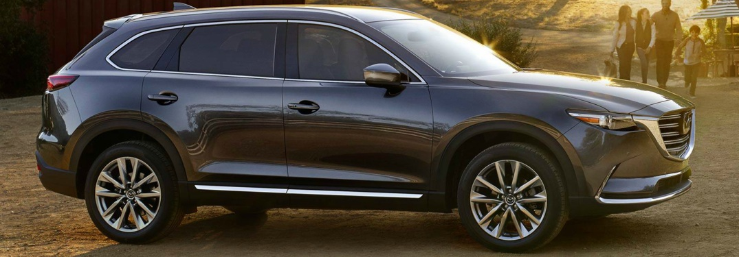2018 Mazda CX-9 machine gray metallic side view