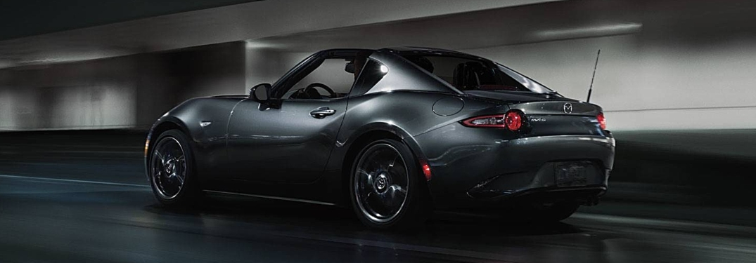 2018 Mazda MX-5 Miata Grand Touring Gray side back view