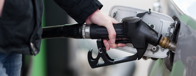 filling a car with gas