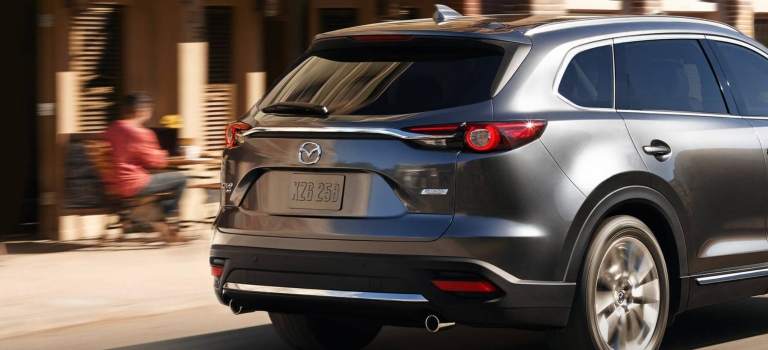 2019 Mazda CX-9 gray with dual exhaust