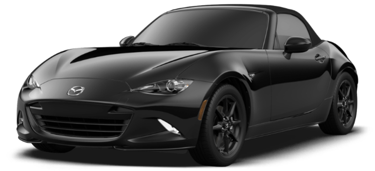 2019 Mazda MX-5 Miata Sport black side view