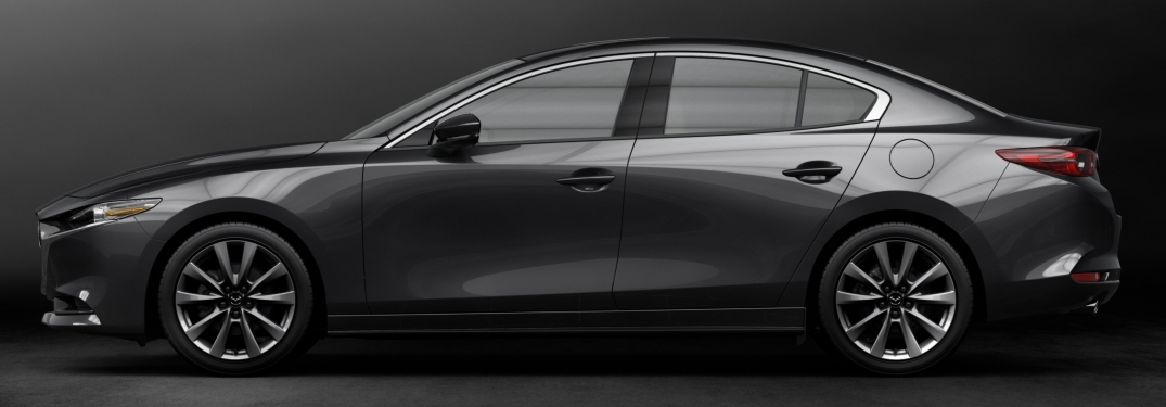 2019 Mazda3 gray side view