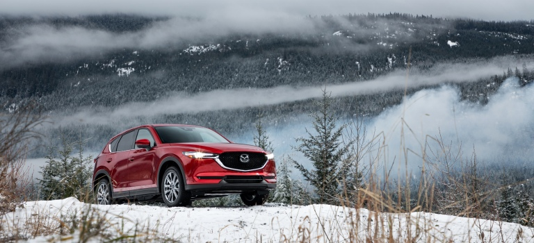 2019 Mazda CX-5 red front view in snow