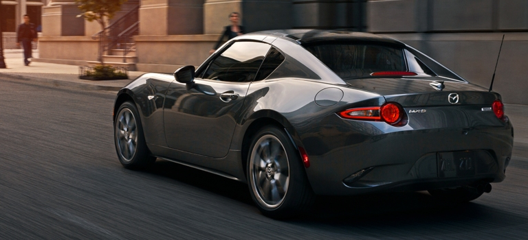2019 Mazda MX-5 Miata RF gray back view