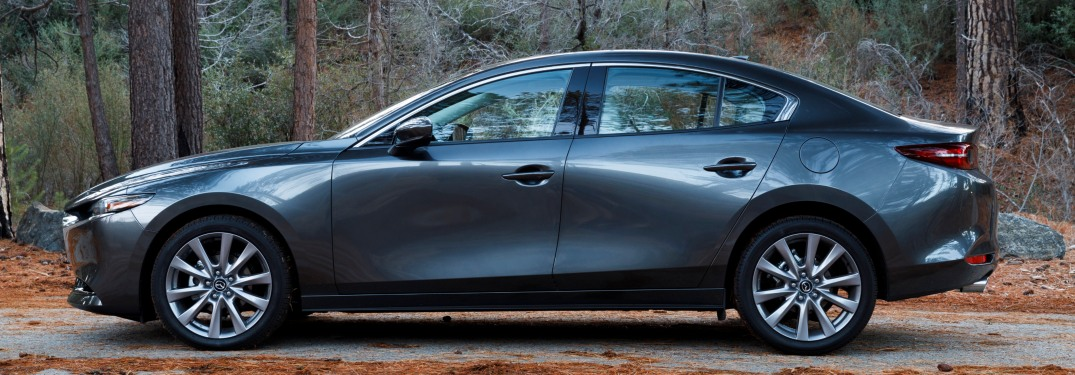2019 Mazda3 Sedan gray driver's-side view