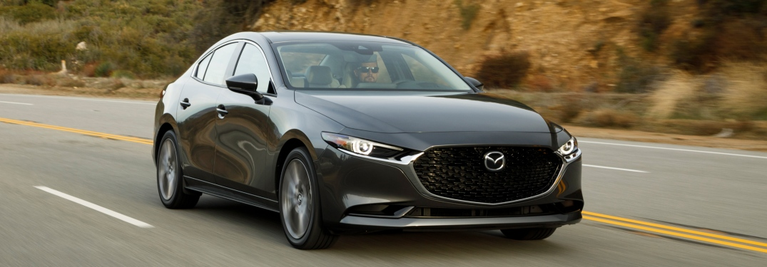 What is included on the top trim of the 2019 Mazda3 Sedan?