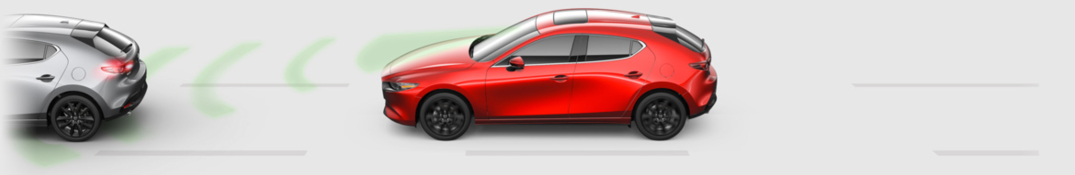 2019 Mazda3 red side view diagram with smart city brake support