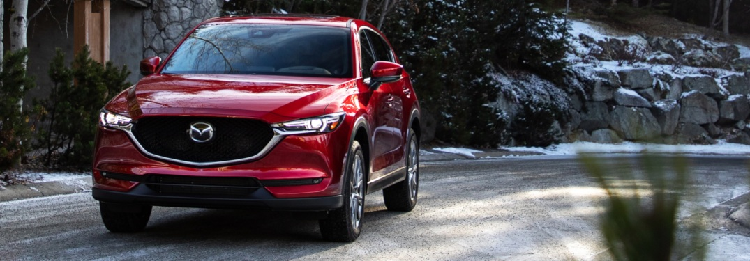 2019 Mazda CX-5 red front view on the road