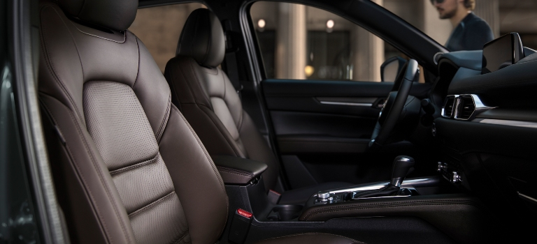 2019 Mazda CX-5 Nappa leather front seats in Caturra brown