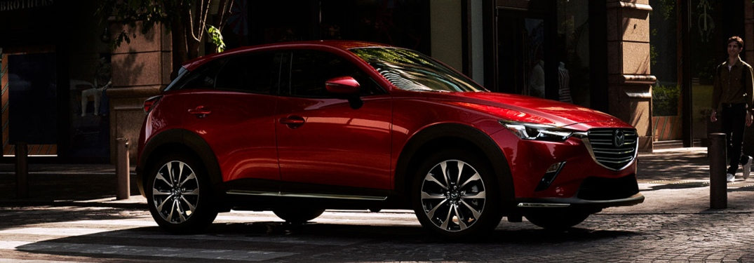 2019 Mazda CX-3 red side view