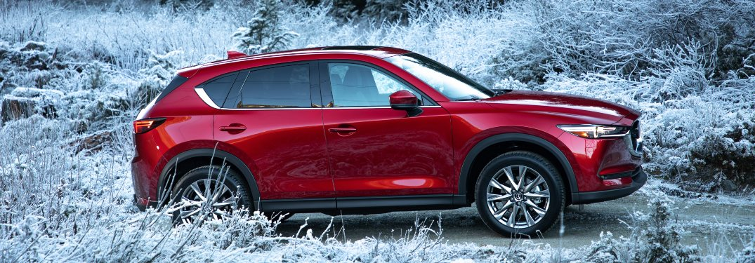 2019 Mazda CX-5 red side view in frost