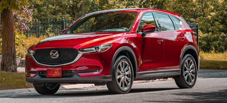 2019 Mazda CX-5 red side front view