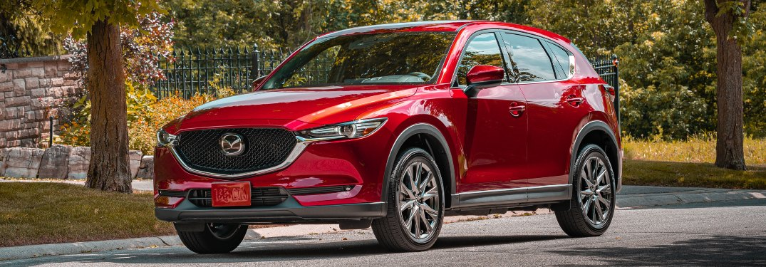 2020 Mazda CX-5 red side view