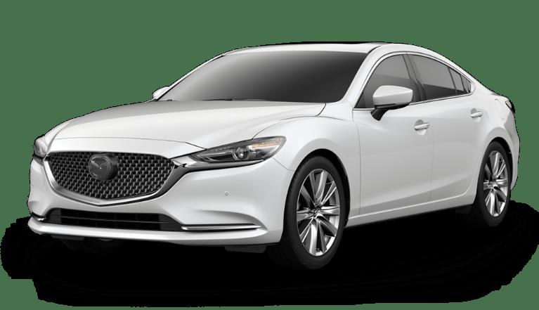 2020 Mazda6 Snowflake White Pearl Mica side view