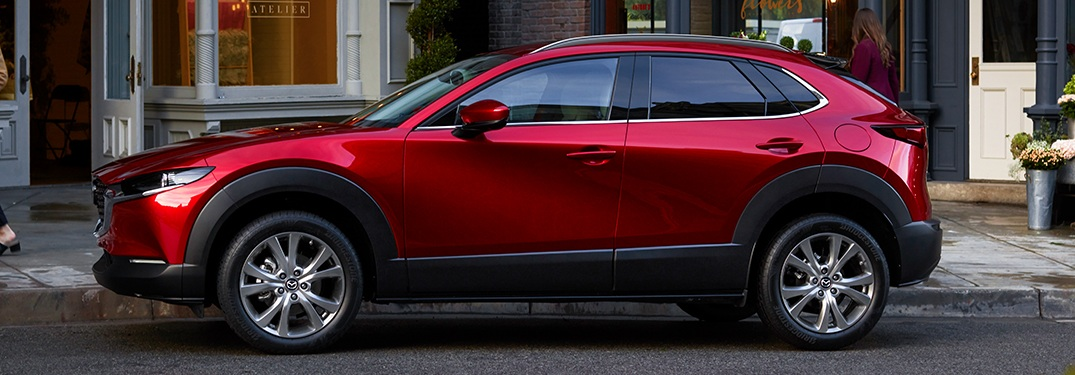 2020 Mazda CX-30 red side view