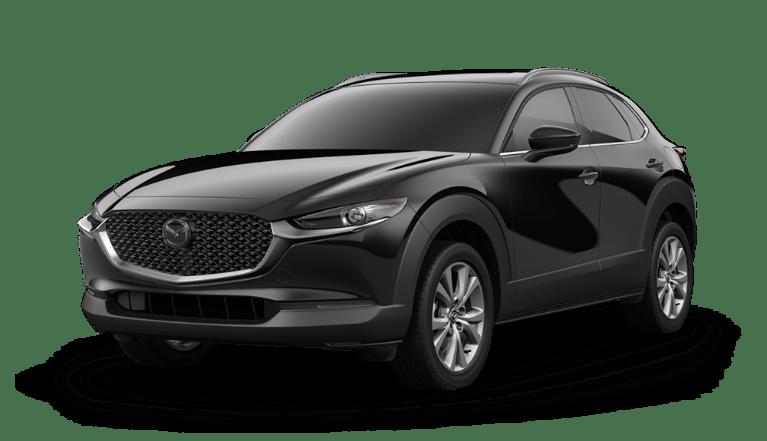 2020 Mazda CX-30 side view in Jet Black Mica