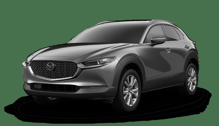 2020 Mazda CX-30 side view in Machine Gray Metallic