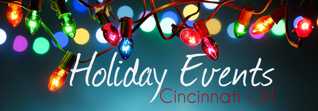 Christmas-ornaments-over-blue-background-with-text-saying-Holiday-Events-Cincinnati-OH