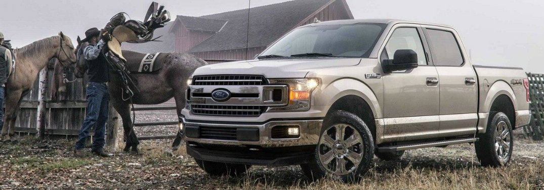 2018-Ford-F-150-next-to-horse-and-cowboy