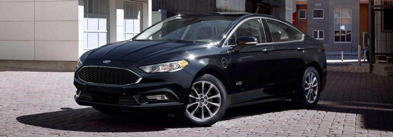 Black-2018-Ford-Fusion-on-cobblestone-road