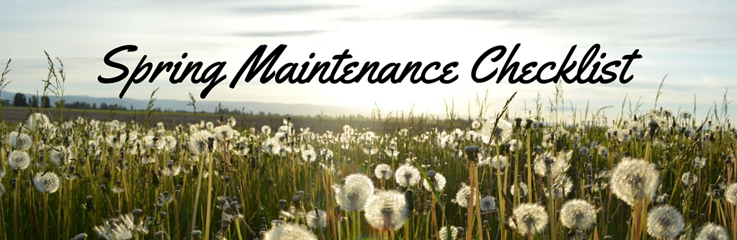 spring maintenance checklist for vehicles