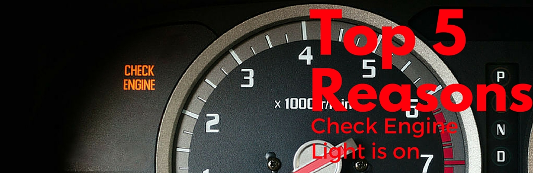 top 5 reasons check engine light is on