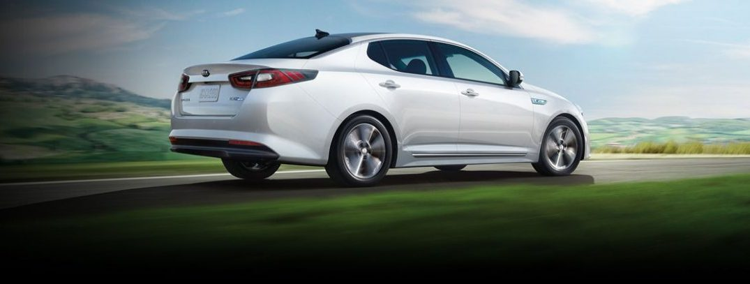2016 kia optima hybrid exterior white rear