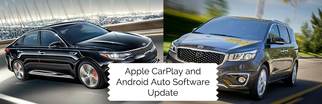 2016 kia optima 2016 kia sedona apple carplay android auto software updates