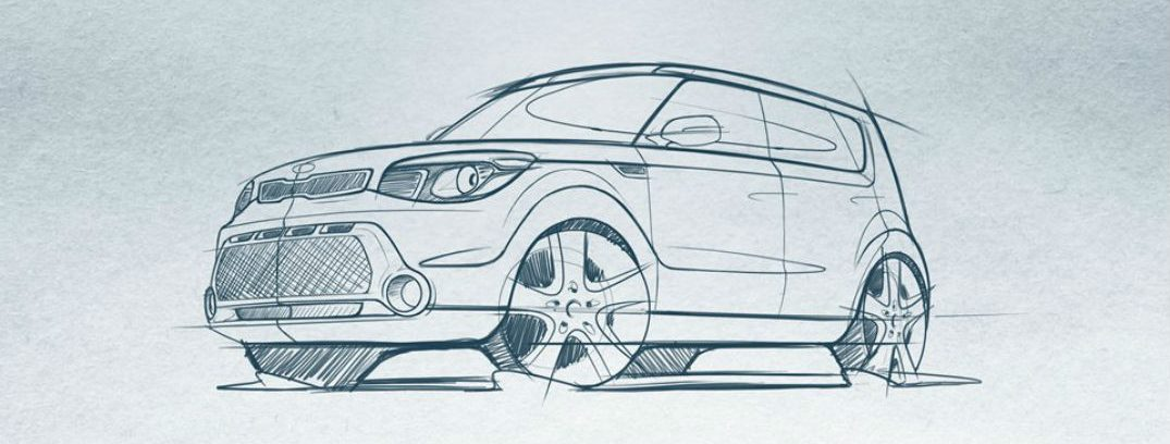 2016 kia soul design sketch