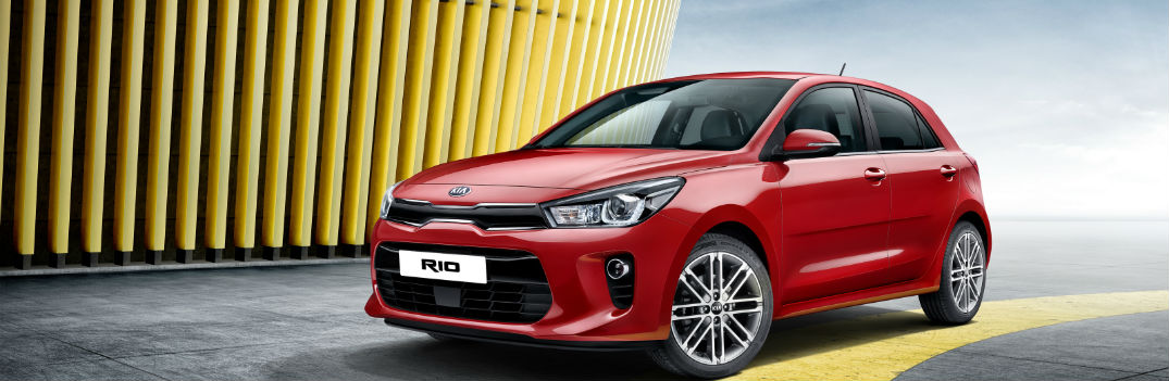 2017 Kia Rio red exterior redesign headlights grille