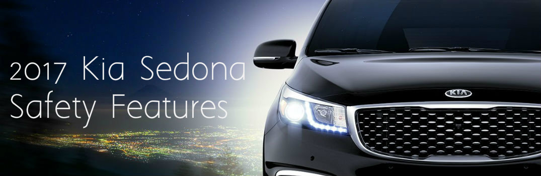 2017 Kia Sedona safety features headlights grille front end
