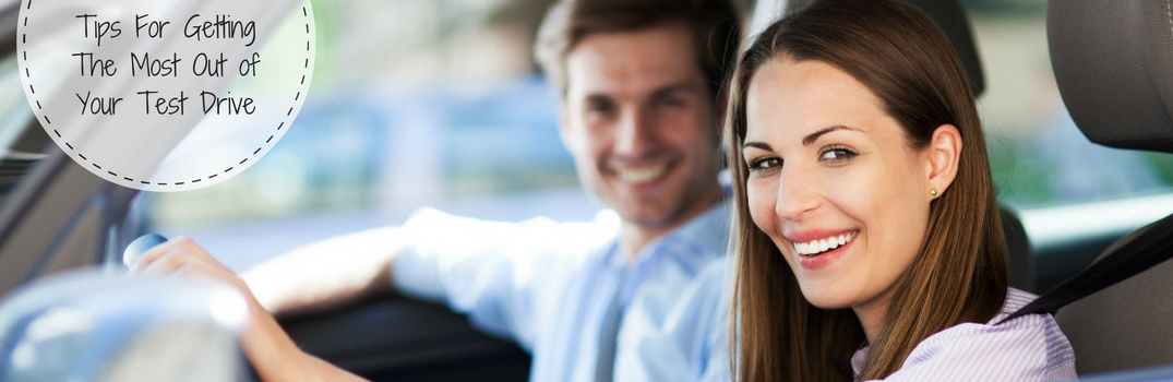 tips for getting the most out of your test drive couple driving a vehicle
