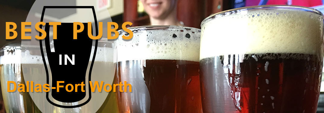 Close Up of Irish Beer with Pint Glass Cut out and Best Pubs in Dallas-Fort Worth Text