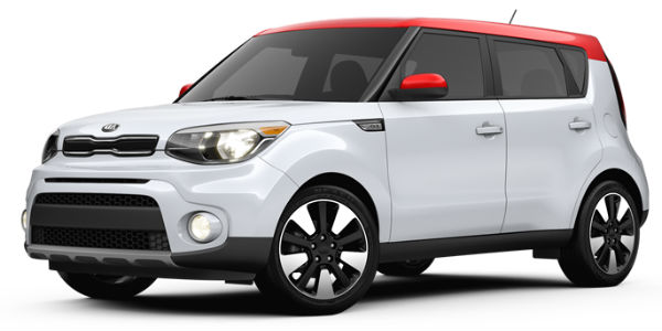 2017 Kia Soul White/Red