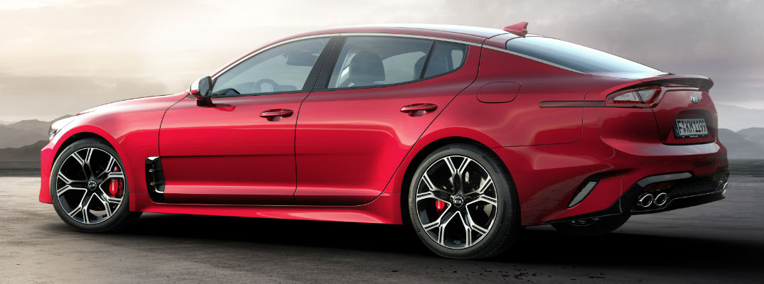 Red 2018 Kia Stinger Side Exterior on Road