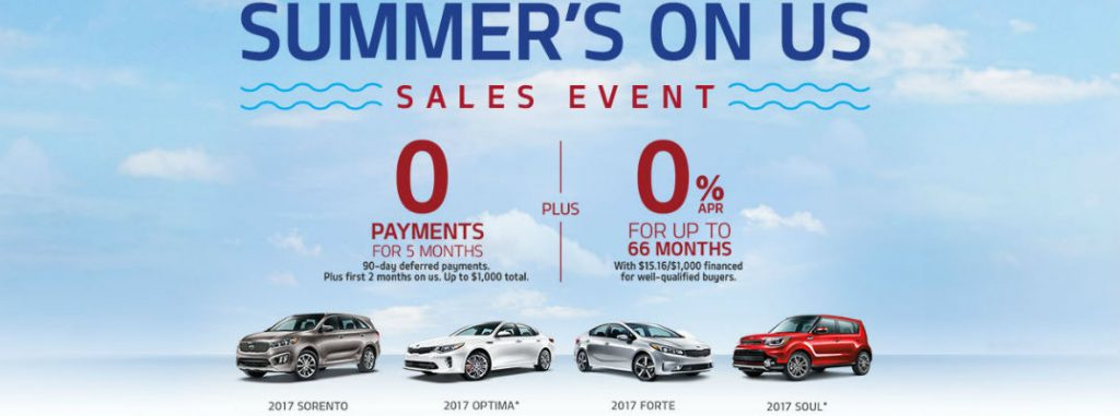 2017 Kia Summer S On Us Sales Event And Incentives Fort